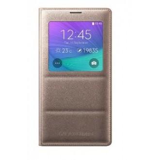 Book Auriu S-view Samsung Pentru Galaxy Note 4