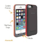 Capac Spate cu baterie externa incorporata pt iPhone 5-55 Colectia force - Negru
