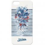 Capac Protectie Spate Jean Paul Gaultier Pentru iPhone 5/5S Colectia Tatoo - Albastru