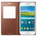 Book S-View Samsung Pentru Galaxy S5 Mini G800 - Auriu