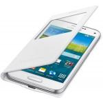 Book S-View Samsung Pentru Galaxy S5 Mini G800 - Alb