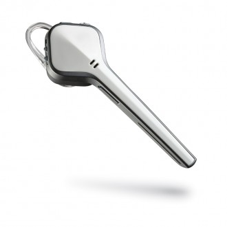 Set Casca Bluetooth Suport De Incarcare Incarcator Auto Si Cablu De Date Plantronics Colectia Voyager Edge- Alb