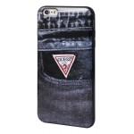 Capac Protectie Spate Guess Pentru Iphone 6 4.7 Inch Imprimeu Denim