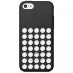Capac Protectie Spate Apple din Silicon pentru iPhone 5C - Negru