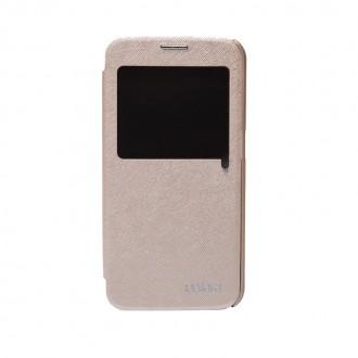 Book S-view Cellara Pentru Samsung Galaxy S6 - Auriu