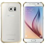 Capac Protectie Spate Samsung Transparent Pentru Samsung Galaxy S6 - Auriu
