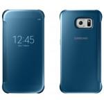 Book Clear View Samsung Pentru Samsung Galaxy S6 - Albastru