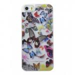 Capac Protectie Spate Christian Lacroix pentru iPhone 5 5s SE Colectia Butterfly - Alb