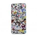 Capac Protectie Spate Christian Lacroix pentru iPhone 6 6s Colectia Butterfly - Alb