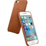 Capac Protectie Spate Apple Din Piele Pentru Iphone 6s Plus - Maro