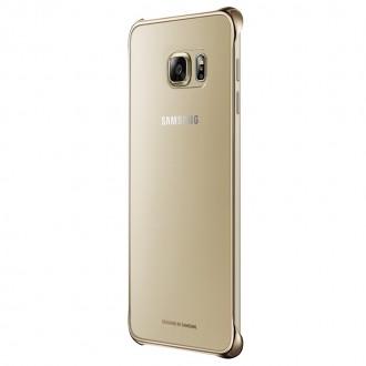 Capac Protectie Spate Samsung Transparent Pentru Samsung Galaxy S6 Edge Plus Auriu