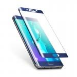 Folie Protectie Ecran Sticla 3D Cellara pentru Samsung Galaxy S6 Edge - Albastru Metalic