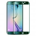 Folie Protectie Ecran Sticla 3D Cellara pentru Samsung Galaxy S6 Edge - Verde Metalic