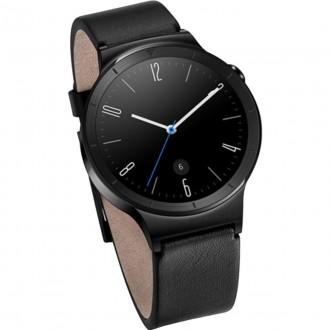 Smartwatch Huawei W1 Otel Inoxidabil Negru Si Curea Din Piele Neagra
