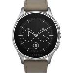 Smartwatch Vector Luna Argintiu - Curea Piele Bej - Marime S