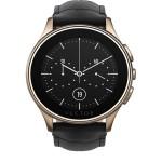 Smartwatch Vector Luna Rose Gold - Curea Piele Neagra - Marime Standard