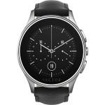 Smartwatch Vector Luna Argintiu - Curea Piele Neagra - Marime Standard