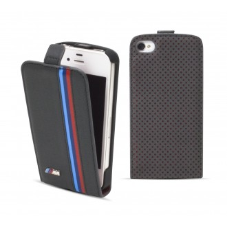 Flip BMW Piele gri inchis pentru iPhone 5-5S - Colectia motorsport