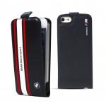 Husa Flip BMW Piele pentru iPhone 5 5s SE Colectia Motorsport - Bleu
