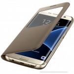 Husa Book S-View Samsung Pentru Samsung Galaxy S7 Edge - Auriu