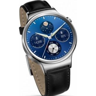 Smartwatch Huawei W1 Otel Inoxidabil Si Curea Din Piele Neagra