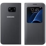 Husa Book S-View Samsung pentru Samsung Galaxy S7 Edge - Negru