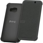 Husa Book DotFlip HTC pentru HTC One M9 - Gri Negru
