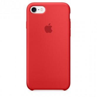 Imagine indisponibila pentru Capac Protectie Spate Apple Din Silicon Pentru Iphone 7 - Rosu