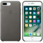 Capac Protectie Spate Apple Din Piele Pentru Iphone 7 Plus - Gri