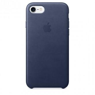 Imagine indisponibila pentru Capac Protectie Spate Apple Din Piele Pentru Iphone 7 - Bleumarin