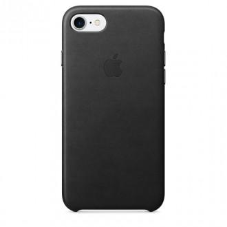 Imagine indisponibila pentru Capac Protectie Spate Apple Din Piele Pentru Iphone 7 - Negru