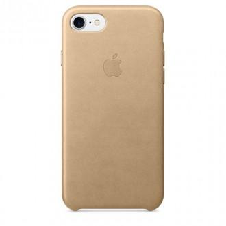 Imagine indisponibila pentru Capac Protectie Spate Apple Din Piele Pentru Iphone 7 - Bej