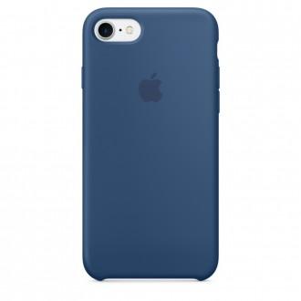 Imagine indisponibila pentru Capac Protectie Spate Apple Din Silicon Pentru Iphone 7 - Albastru