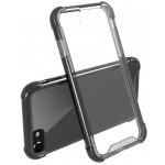 Capac Protectie Spate Cellara Anti-soc Cu Bumper Negru Colectia Hybrid Pentru iPhone 7 - Transparent