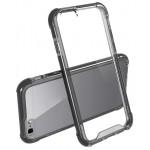 Capac Protectie Spate Cellara Anti-soc Cu Bumper Negru Colectia Hybrid Pentru Iphone 6/6s - Transparent