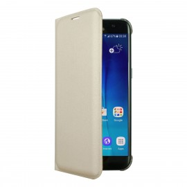 Husa Book Cellara Colectia Attitude Pentru Samsung Galaxy S7 Edge - Auriu