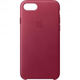 Capac Protectie Spate Apple Din Piele Pentru iPhone 7 - Visiniu