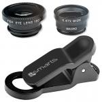 Kit Lentile Foto 4smarts 3 In 1 Fisheye, Wide-angle Si Macro Pentru Telefoane - Negru