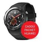 Pachet Smartwatch Huawei W2 4G Carbon Black Sport Strap - Negru