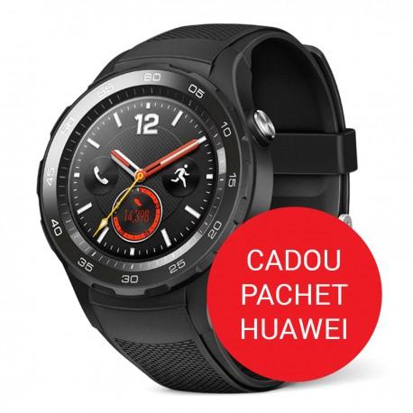 Pachet Smartwatch Huawei W2 Carbon Black Sport Strap - Negru
