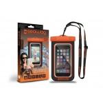 Husa Protectie Telefon Rezistenta La Apa 5.7 Inch - Negru Si Portocaliu