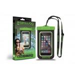 Husa Protectie Telefon Rezistenta La Apa 5.7 Inch - Negru Si Verde