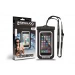 Husa Protectie Telefon Rezistenta La Apa 5.7 Inch - Negru Si Alb