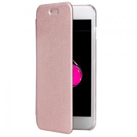Book Cellara Colectia Attitude Pentru iPhone 7 - Roz Auriu