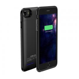 Capac Spate Cellara Cu Baterie Extrna Incorporata Pentru iPhone 7 - Negru