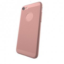 Capac Protectie Spate Cellara Colectia Dots Pentru iPhone 7 - Roz Auriu