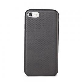 Capac Protectie Spate Cellara Colectia Gentle Pentru iPhone 7 - Negru Metalic
