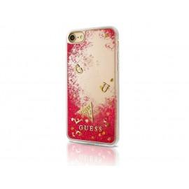 Capac Protectie Spate Guess Pentru iPhone 7 Colectia Liquid Glitter - Roz