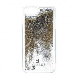 Capac Protectie Spate Guess Pentru iPhone 7 Colectia Liquid Glitter - Auriu
