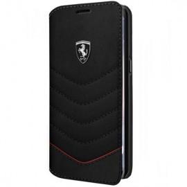 Book Ferrari Din Piele Pentru Samsung S8 Plus Colectia Heritage - Negru